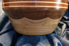 """Scalloped Maple & Walnut Bowl"""